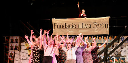 The cast of Evita
