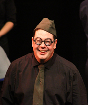 Paul as the innocent Fred Poitrine