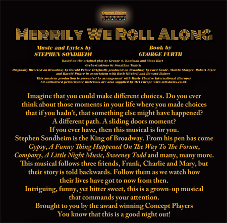 Concept Players present Merrily We Roll Along