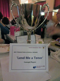 Concept Players win big for Lend Me A Tenor